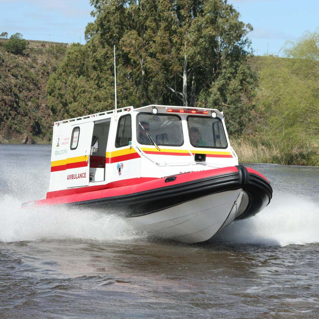 Barco ambulancia fueraborda - AMBULANCE - Falcon Inflatables - Vídeos