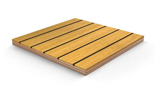 Panel para revestimiento de cubierta / de madera / laminado - IROKO ...