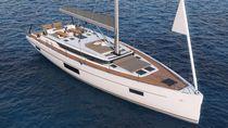 Yate de vela de crucero / con popa abierta / con deck saloon / con 3 camarotes
