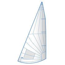 Foque / para barco de quilla monotipo de deporte / corte radial