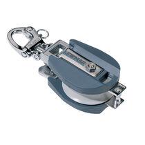 Polea con apertura / simple / con mosquetón de grillete giratorio / diámetro máx. del cabo: 14 mm