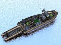 Barco militar intraborda / embarcación neumática semirrígida