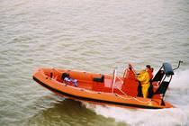 Barco de búsqueda y rescate intraborda / fueraborda / embarcación neumática semirrígida