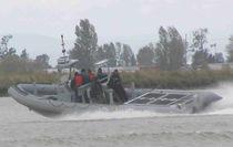 Barco militar intraborda / hidrojet intraborda / embarcación neumática semirrígida