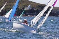 Velero velero de quilla deportivo / con popa abierta / de doble timón / cat boat