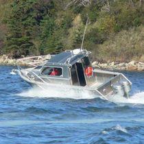 Cabin-cruiser fueraborda / con hard-top / de aluminio