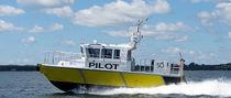 Embarcación piloto intraborda / hidrojet intraborda / de aluminio