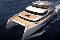 Yate a motor catamarán / offshore / con caseta de timón / de desplazamiento