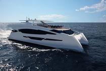 Yate a motor catamarán / de buceo / con caseta de timón / semi-custom