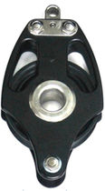 Polea con rodamiento de bolas / simple / con arraigo / diámetro máx. del cabo: 22 mm