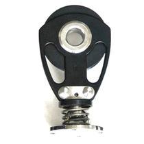 Polea con rodamiento de bolas / simple / con puente/muelle / diámetro máx. del cabo: 22 mm