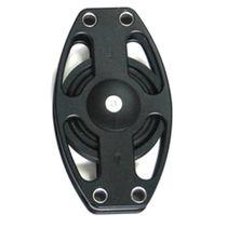 Polea de reenvío / con rodamiento de bolas / simple / diámetro máx. del cabo: 22 mm