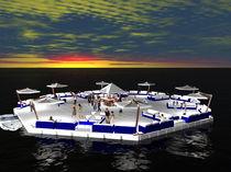 Plataforma para barco / para puerto deportivo / flotante / modular