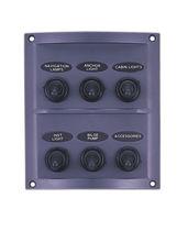 Panel de mando para barco / para circuito eléctrico / semiestanco