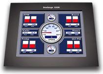 Visualizador para buque / multiusos / LCD / táctil