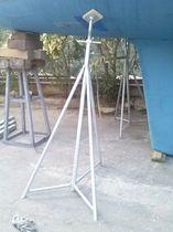Pie de puesta en dique para velero / ajustable / galvanizado