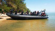 Barco militar fueraborda / embarcación neumática semirrígida