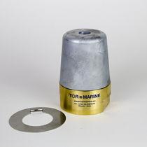 Ánodo de protección para barco / de zinc / de latón / acero inoxidable