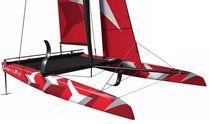 Catamarán / velero de quilla deportivo / monotipo / con popa abierta