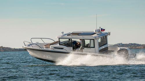 barco open fueraborda / intraborda / con cockpit cerrado / de pesca deportiva