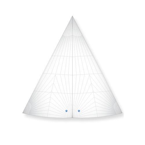 vela de proa / vela de viento portante / para velero de crucero / enrollador