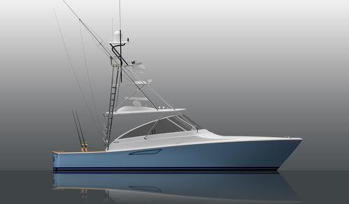 barco cabinado intraborda / diésel / de crucero / de pesca deportiva