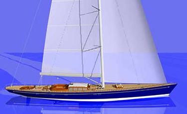 superyate de vela de lujo de crucero / con popa abierta / sloop