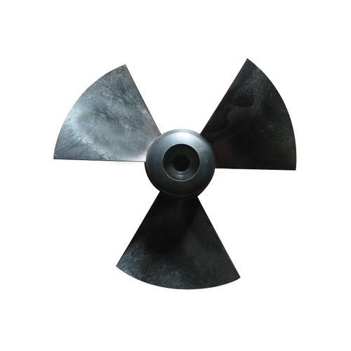 hélice para barco / de paso fijo / propulsor transversal / 3 palas