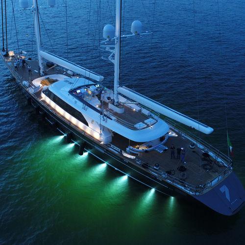 superyate de vela de lujo de crucero / con caseta de timón / de aluminio / queche