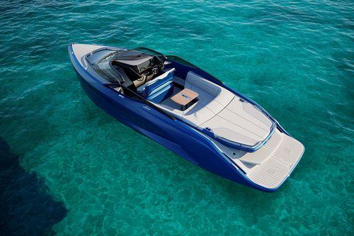 barco cabinado fueraborda / open / de carbono