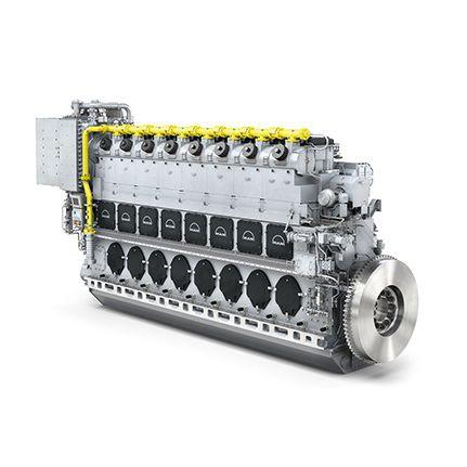 motor para buque gas / de doble combustible / de fuel pesado