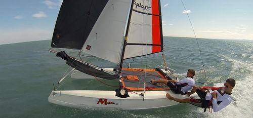 catamarán deportivo de recreo / para escuela / doble