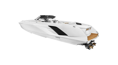 Runabout intraborda / casco con peldaños / con doble consola / offshore 1414 DEMON FRAUSCHER BOOTSWERFT