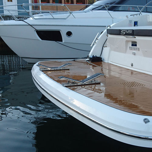 pescante de bote / para yate / manual / plegable