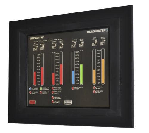 sistema de control y mando para buque / para medición de nivel de cubas