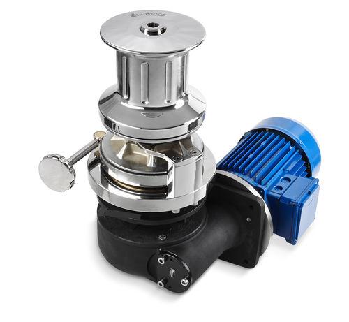 molinete para yate / vertical / eléctrico / tambor simple