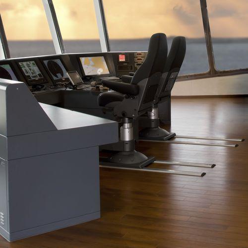 pie para asiento piloto para buque / sobre carril / de acero inoxidable