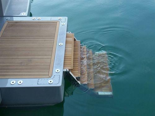 Escalera para barco / telescópica / de embarque / para plataforma 92 WBL  Pin-craft