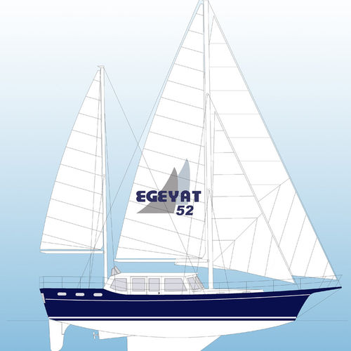 yate de vela de crucero / con deck saloon / con 8 literas / queche