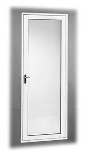 puerta para yate / con bisagra lateral / semiestanca / de aluminio