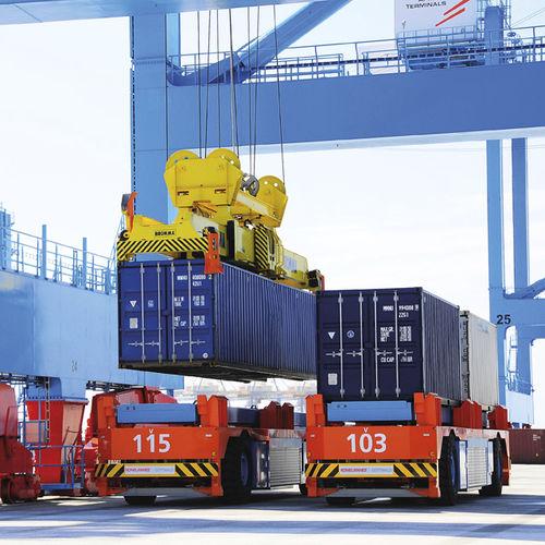 vehículo de guiado automático con guiado automático / para contenedores