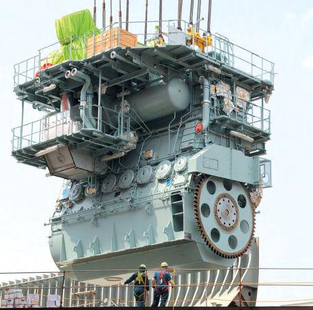 Motor para buque diésel HYUNDAI HEAVY INDUSTRIES