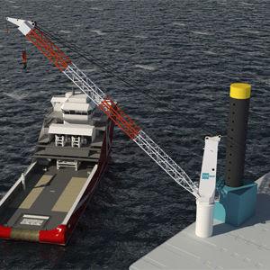 grúa para buque / portuaria / de cubierta / de brazo amantillable