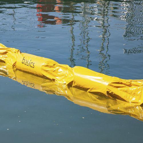 barrera de contención / flotante / para puerto / para río