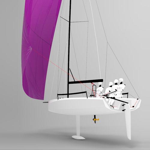 monocasco / velero de quilla deportivo / de regata / con popa abierta