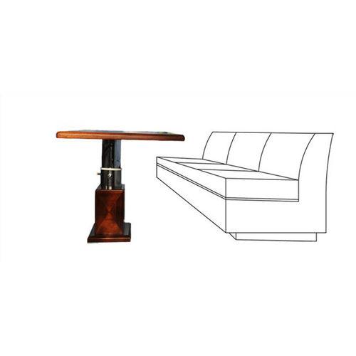 mesa para barco / ajustable / de madera