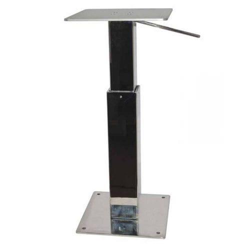 pie de mesa para barco ajustable / telescópico / de acero inoxidable