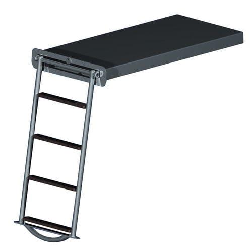escalera para barco / abatible / de baño / para plataforma