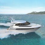 barco cabinado intraborda / con hard-top / con 2 camarotes / con solárium