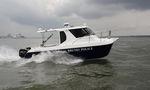 barco de vigilancia catamarán / fueraborda